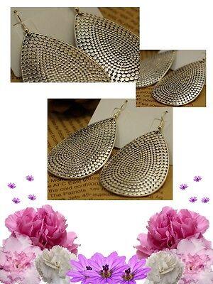 Vintage Silver Alloy Hook /& Teardrop Dangle Earrings Jewelry Ginatricot Kohl/'s