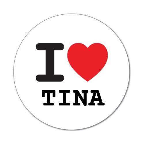 I LOVE tina-autocollant sticker décalque 6cm