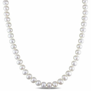 Sterling-Silver-White-Cultured-Freshwater-Pearl-Pendant-Necklace-6-5-7-mm