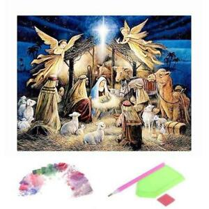 Religion Angel 5D DIY Diamond Painting Embroidery Mosaic Decor Cross Stitch U6Q6