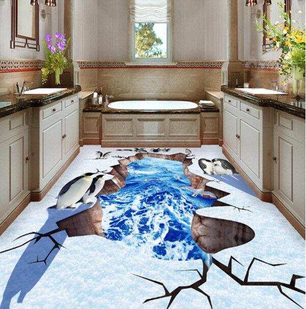 3D Pinguin Ozean 409 Fototapeten Wandbild Fototapete Tapete Familie DE Summer