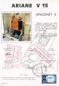 SUR-DOCUMENT-ARIANE-V-15-SPACENET-3-LANCEMENT-ARIANE-KOUROU-1985