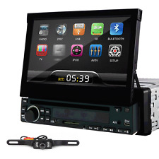 "HD New Single DIN 7"" Car In Dash DVD Stereo Player No-GPS Radio Bluetooth+Camera"