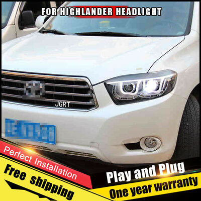 for 2008 2010 NSF Toyota Highlander Left LH Headlamp Lens//Housing Base//LTD//SE