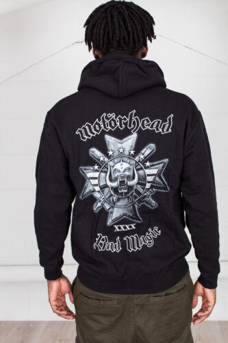 Official Motorhead Bad Magic Unisex Hoodie Lemmy Kilmister England Overkill Tour