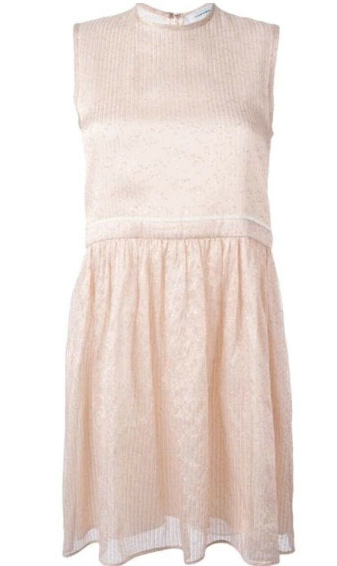 Carven Robe Baby Doll Dress Nude Rosa ITA 44