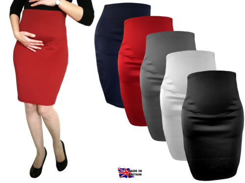Cheap MATERNITY SKIRT OVER BUMP PREGNANCY CLOTHES PENCIL SKIRT for sale