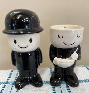 Vintage Home Pride Fred Ceramic Egg Cup & Pie Funnel - See Description (D1)