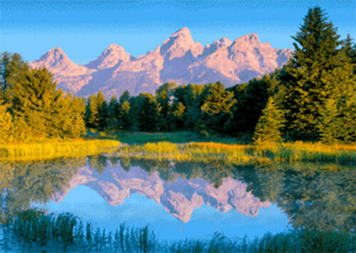 Wyoming Teton Range 3D Lenticular Post Card Greeting Card