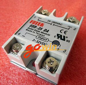 2pcs-Output-24V-380V-25A-SSR-25-DA-Solid-State-Relay-PID-Temperature-Controller