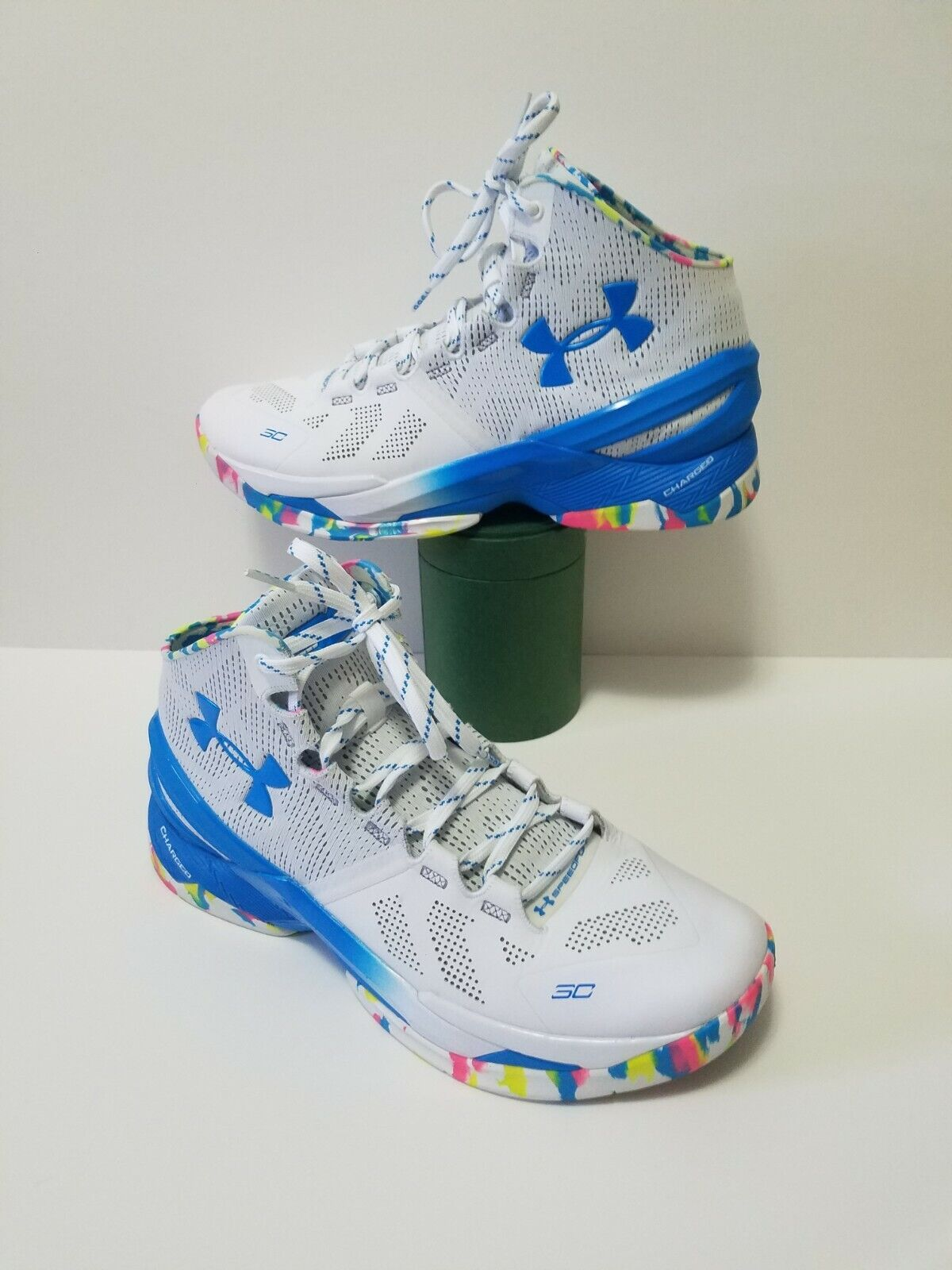 lavar Insatisfecho Embutido  Under Armour UA Curry 2 Basketball Shoes Neon Birthday Size 9.5 PRICE 2  SALE!!!! for sale online