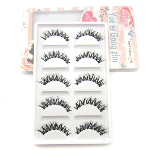 5 Pairs Fashion Soft Messy Cross False Eyelashes Hot Sale Eye Lashes Makeup