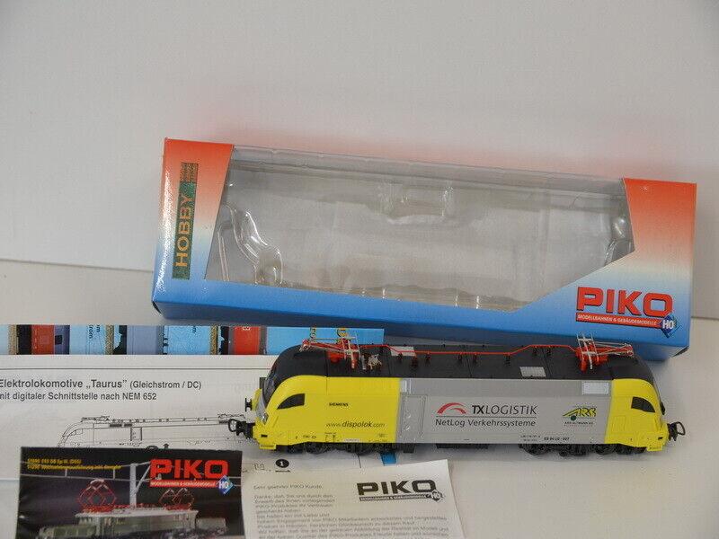 28) Piko 57424 h0 e-Lok siemens dispolok-con luz, en OVP sale muy bien