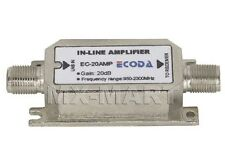 SATELLITE DISH ECODA SIGNAL AMPLIFIER TV INLINE BOOSTER