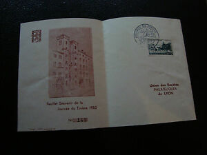FRANCE-document-1er-jour-8-3-1952-journee-du-timbre-cy22-french