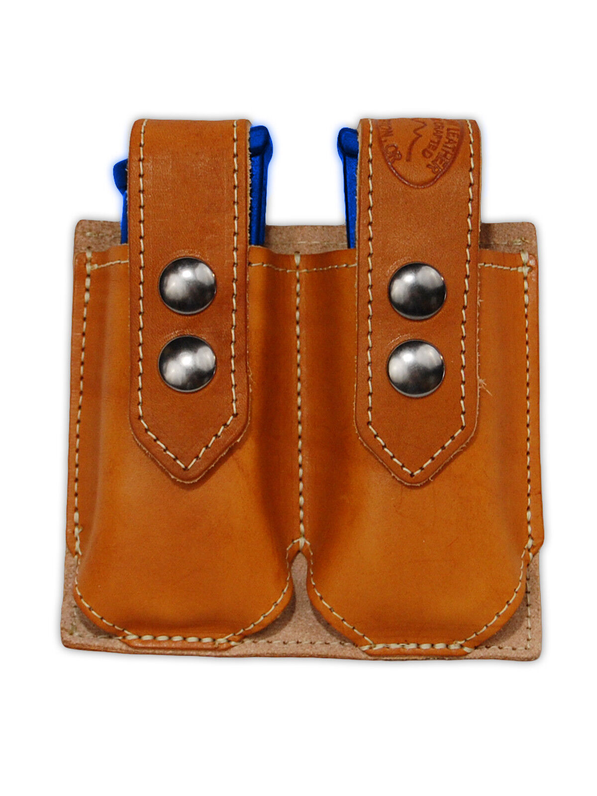 NEW Barsony Tan Leather Double Magazine Pouch Steyr Walther Full Size 9mm 40 45