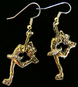 Image Is Loading Figure Skater Earrings Ice Skates 24 Karat Gold