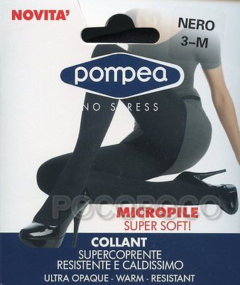 POMPEA Set 2 Pezzi Collant Micropile Coprente