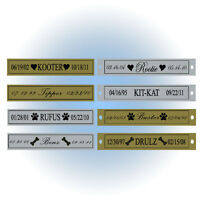 Single Line Engraved Pet Memorial Name Plate - With Or W/o Screwholes - Dog Cat