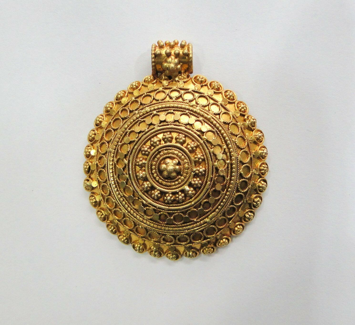 ``Vintage antique solid 18K gold jewelry handmade Pendant amulet Rajasthan India