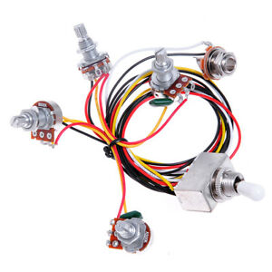 Guitar-Wiring-Harness-Prewired-2V2T-3way-Toggle-Switch-500K-Pot-for-GB-Parts