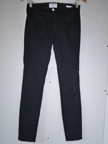 Black Stretch Cadre Détruit Super Le Skinny Denim 27 De Taille Wash Jeanne Neuf cwYx8qSpFY