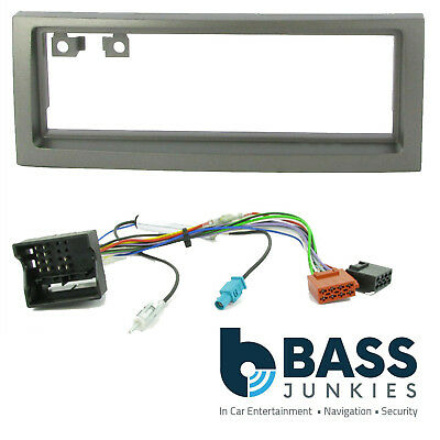 VAUXHALL COMBO STEREO FACIA FASCIA KIT SURROUND SILVER ISO AERIAL 2004 ONWARDS