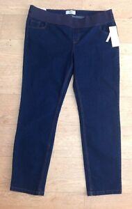 NEW-LOOK-dark-blue-skinny-maternity-jeans-size-16-Under-the-bump-BNWT-NEW-32-Leg