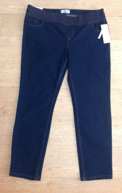 62529cdcbd157 NEW LOOK dark blue skinny maternity jeans size 14 Under the bump BNWT NEW  32 Leg