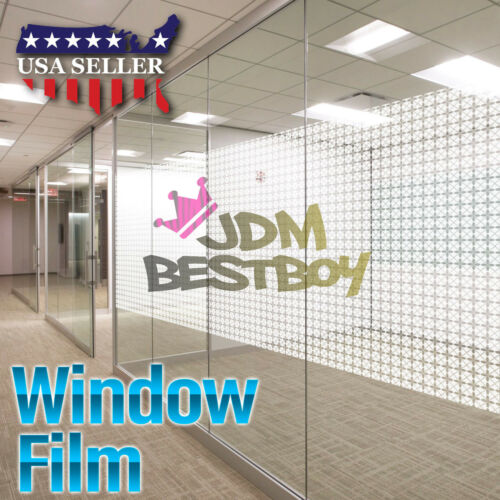 Glass Clear Film Static Cling Office Home Window Patterned Decoration Privacy