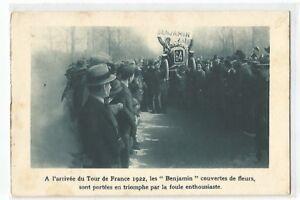 CPA-SPORT-CYCLISME-ARRIVEE-DU-TOUR-DE-FRANCE-1922