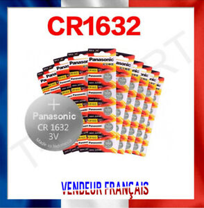 Pile Bouton CR1632 Lithium 3V PANASONIC Pile bouton DL1632 ECR1632 Battery