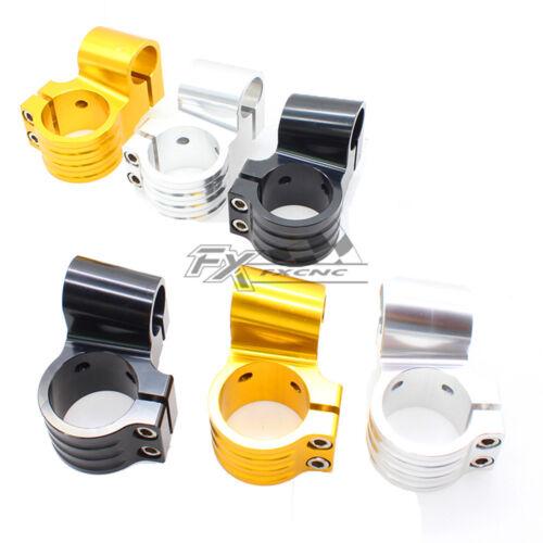 CNC Riser Regular Handlebar Fork Clip-ons Handle Bar For 35//37//41//43//45//46//48mm