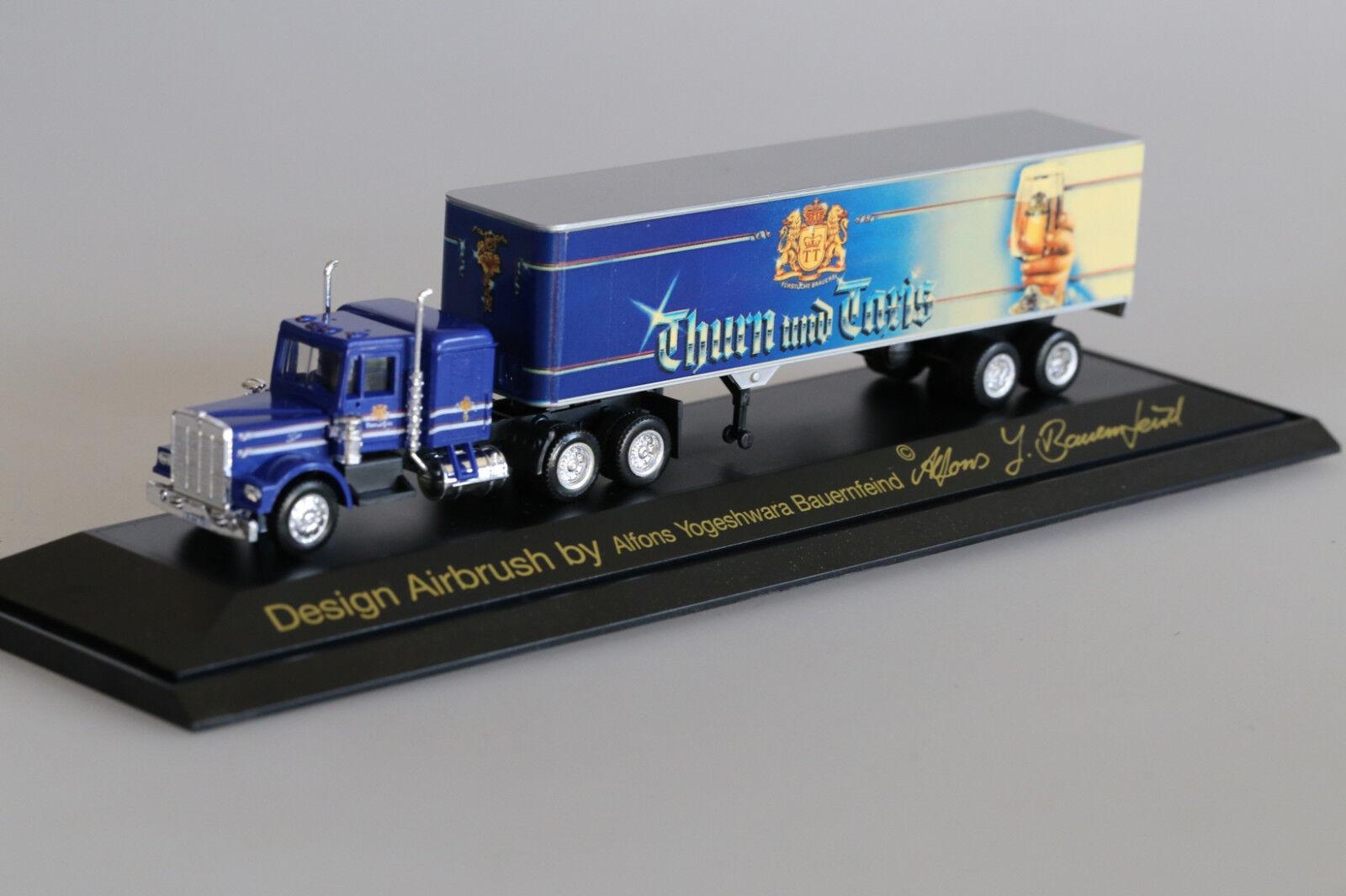 Herpa 164 214-serie especial  Thurn & taxis , kennworth Truck-nuevo en el embalaje original