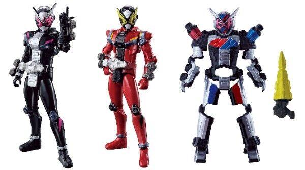 Bandai Kamen Masked Rider Zi-O RKF Rider Armor Series Zi-O & Geiz & Build Armer