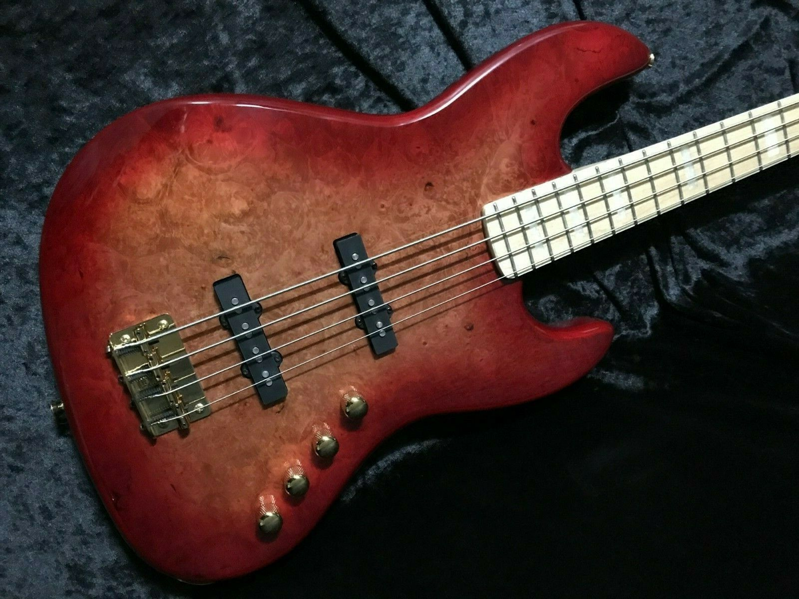 Swing Jazz 4V rot Burst 4 Strings Electric Bass Guitar