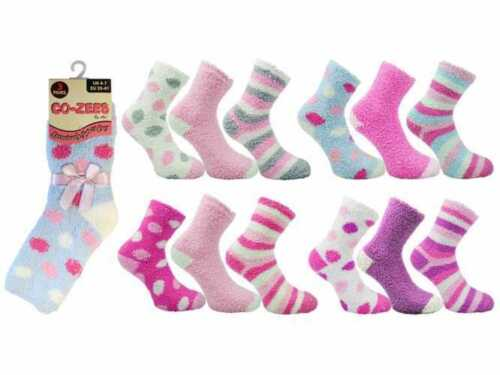 Ladies Luxuriously Soft /& Cosy Bed Sleep Socks  by Co-Zees-CODE:4803 3 PAIR DEAL