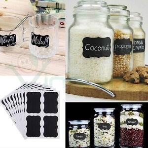 Respectueux Set Kit 36 Etichette Adesive Riutilizzabili Lavagna Cucina Barattoli Contenitori