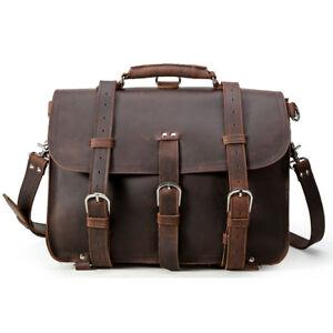 Large-Cool-Vintage-Bull-Leather-Backpack-Saddle-Bag-Laptop-Shoulder-Bag-Handbag