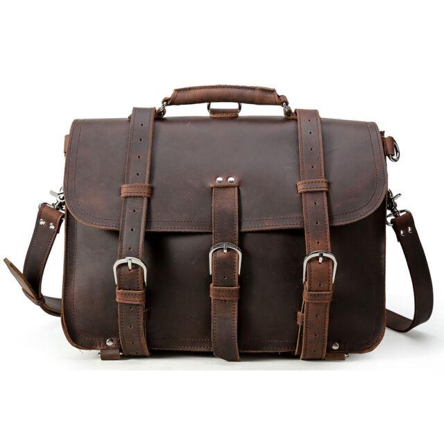 49d135b95a Large Cool Vintage Bull Leather Backpack Saddle Bag Laptop Shoulder Bag  Handbag