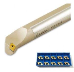 Barra-de-Perforacion-Derecha-32mm-Sdqcr-11-de-Akko-10-Insertos-Dc-11T3-Nuevo