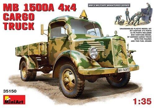 Miniart 35150 - 1 35 WWII Dt. Mb Mb Mb 1500A 4X4 Transport Lkw - Neu  | Das hochwertigste Material  8c249a