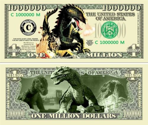 BEAST FROM 20,000 Fathoms Novelty Dollar with Soft Polly sleeve Free Shipping