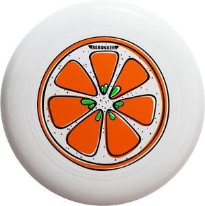Aerocker One Orange - Ultimate Frisbee flying disc, white 175g