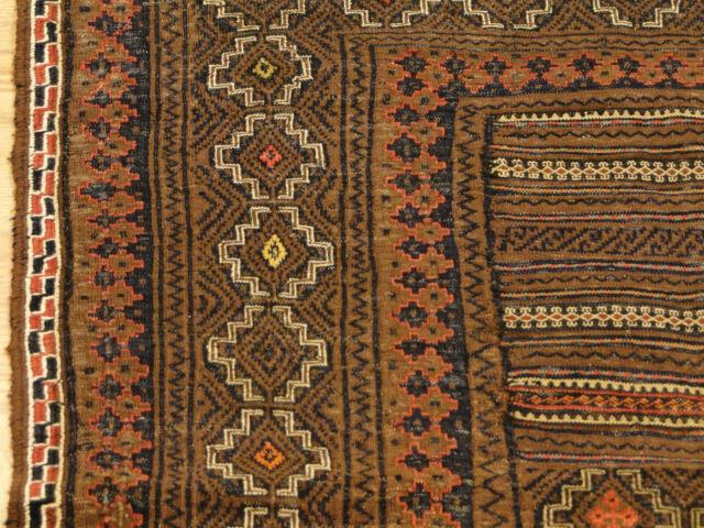 Flat weave Handmade Colorful Shahsavan Sumac Needlepoint Textile Kilim Rug 5'X6'