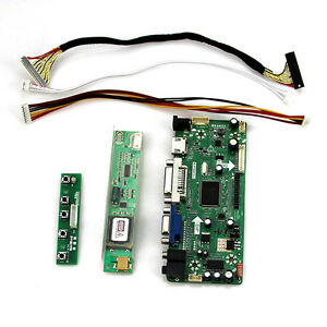 HDMI+DVI+VGA LCD Controller Board Inverter Converter Kit for 15.4 LTN154X1-L03