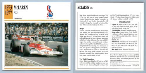 M23-1973-77 Competition Collectors Club Card McLaren