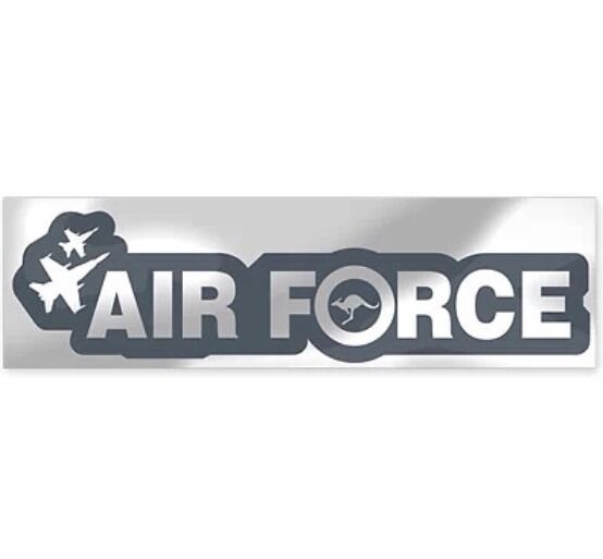 RAAF - Airforce Metallic Bumper Sticker