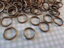 8mm Antiqued Silver Round Jump Rings 18 gauge Qty 118 Pieces