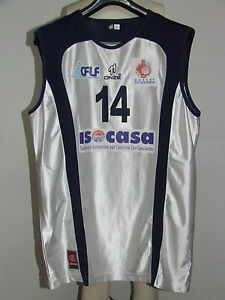 Shirt Maillot Tank Top Basketball Match Worn Cosenza N 14 Ebay